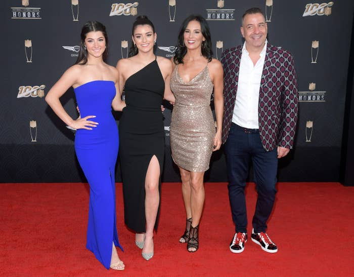 Charli D'Amelio, Dixie D'Amelio, Heidi D'Amelio, and Marc D'Amelio attend the 9th Annual NFL Honors at Adrienne Arsht Center on February 01, 2020 in Miami, Florida