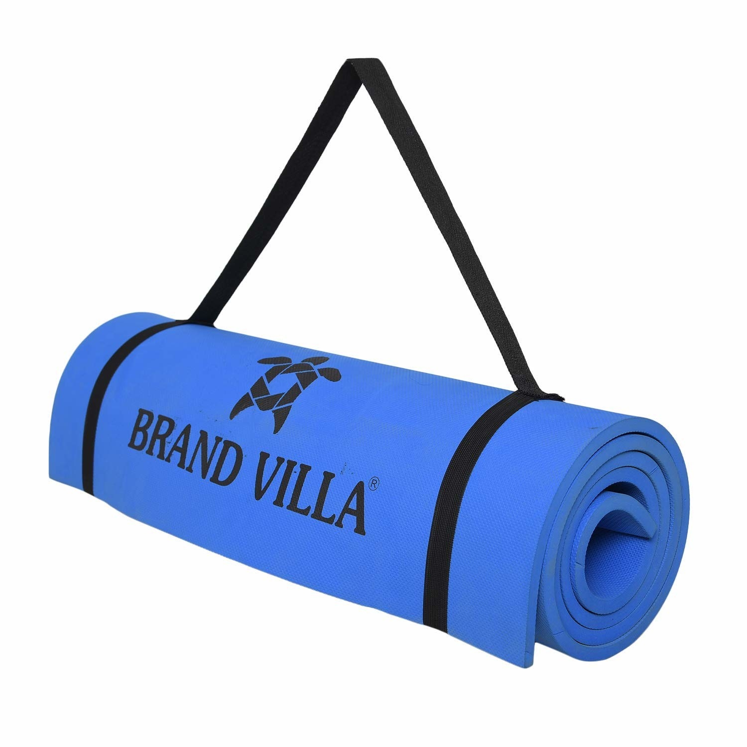 A blue yoga mat