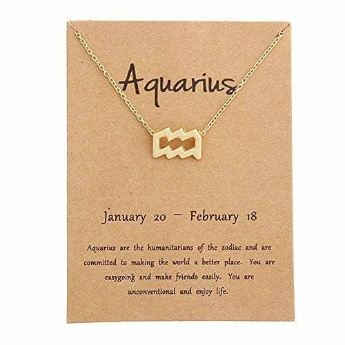 Aquarius zodiac necklace.