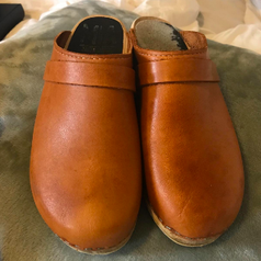 Same clogs after cleaning, much lighter and free of stains