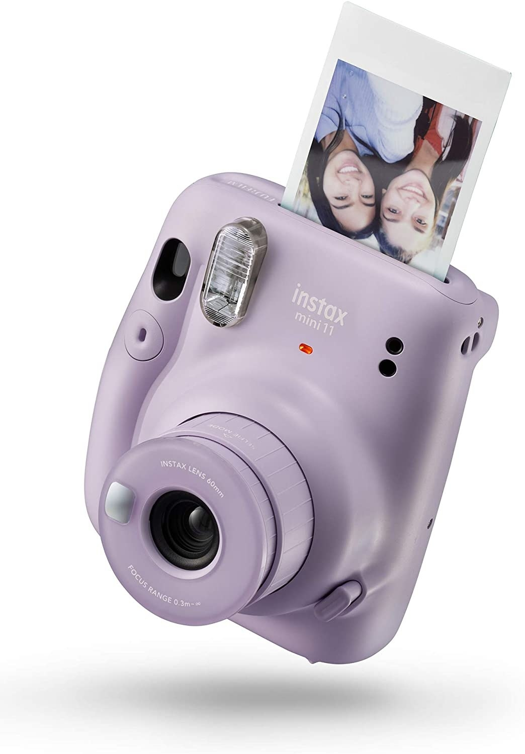 The camera in purple with a photo emerging