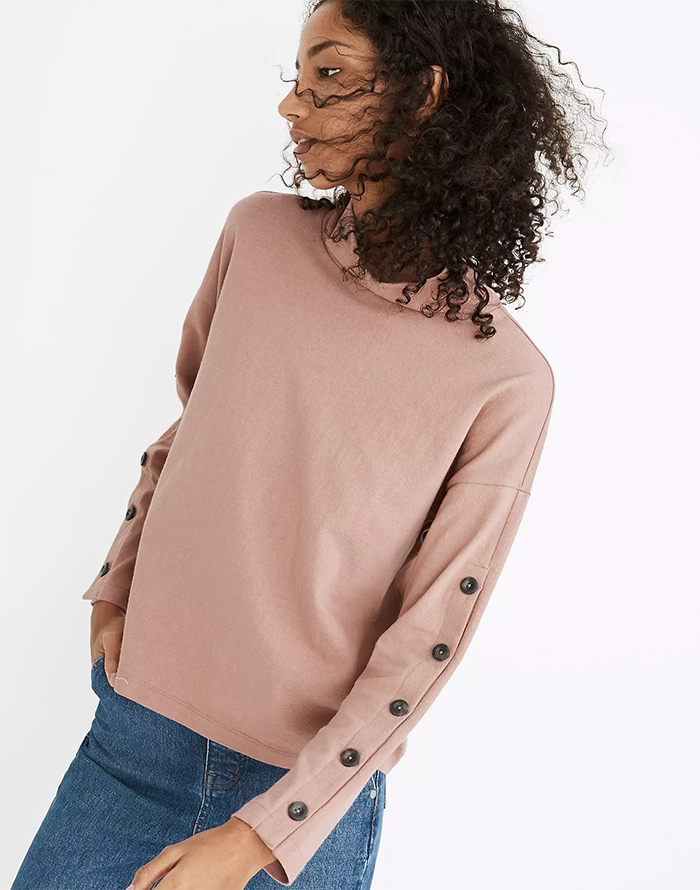 sweater with buttons on sleeves