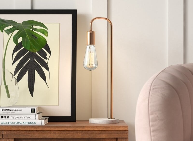 The arched rose gold lamp