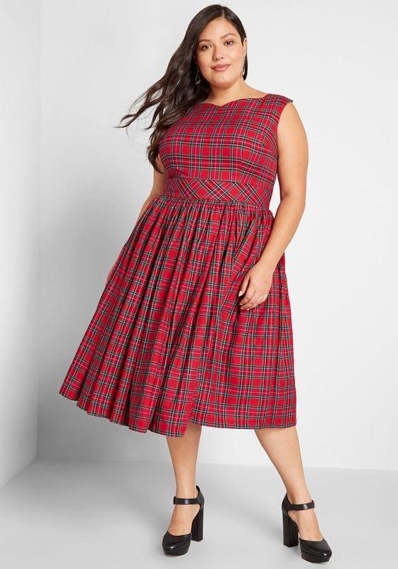 The plaid dress