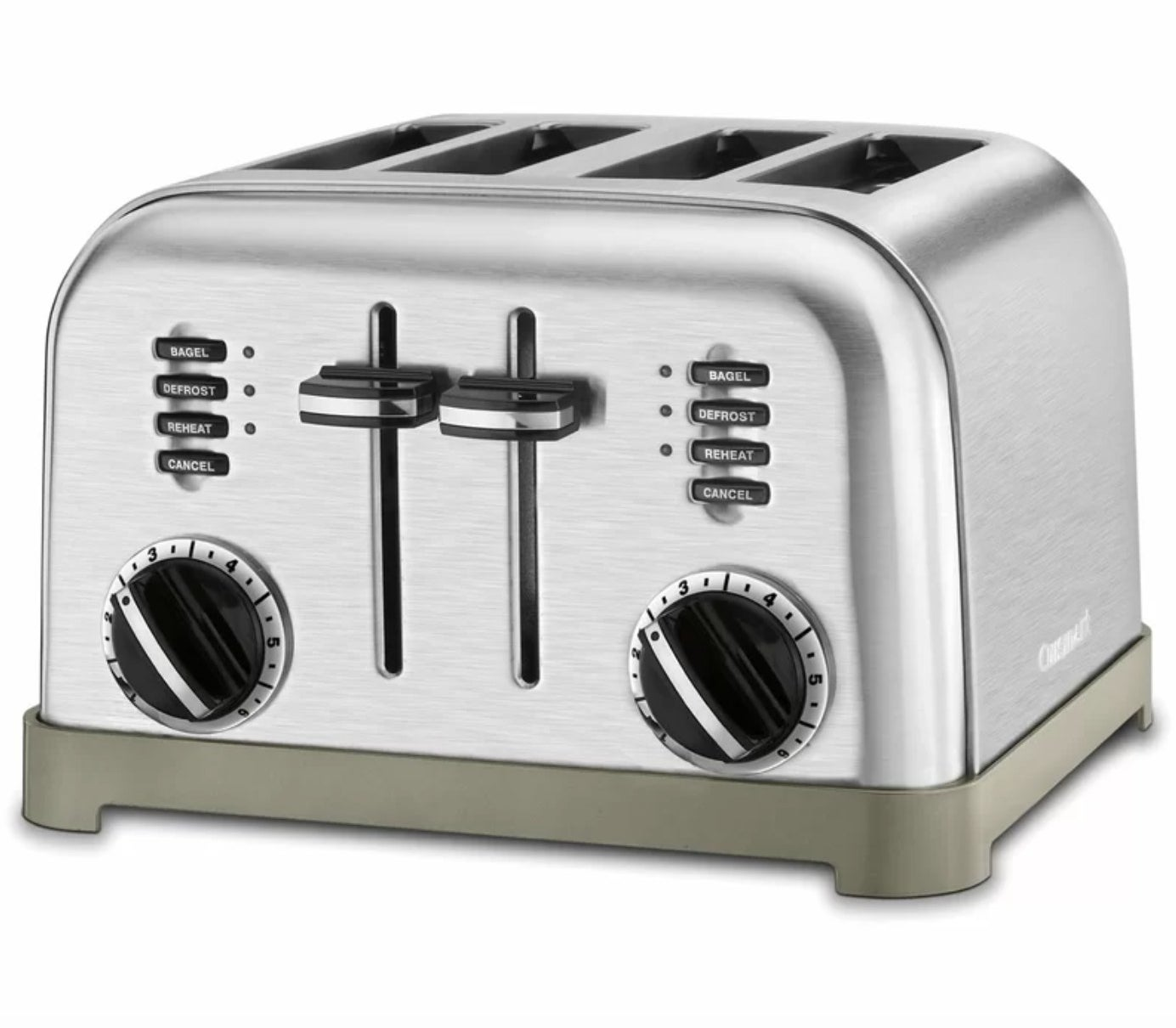 The Cuisinart four-slice toaster in black