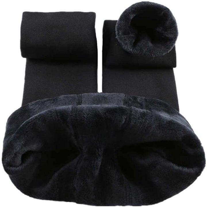 the fleece-lined leggings in black