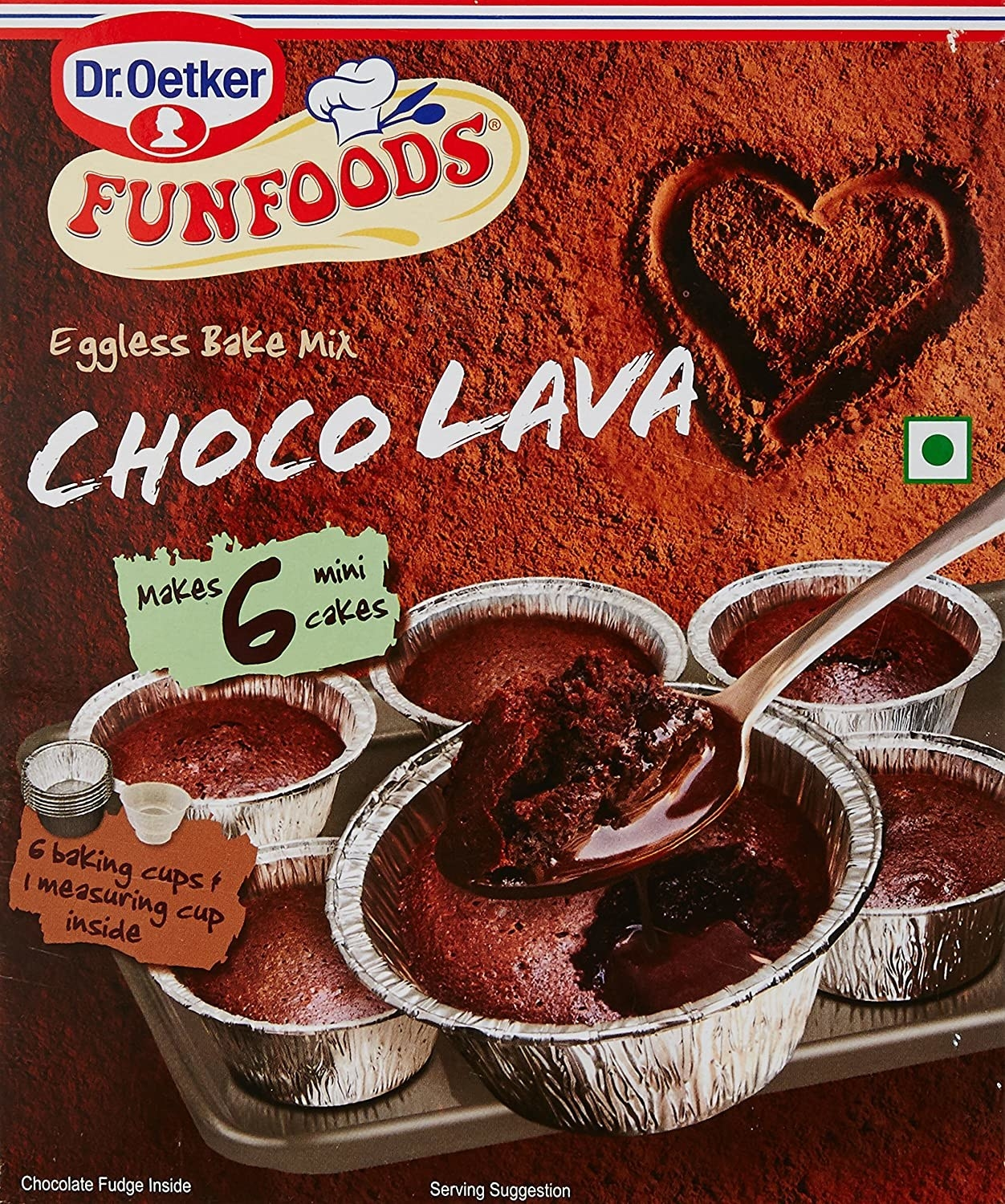 Choco lava cake packaging