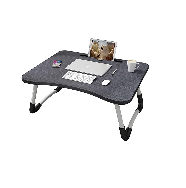 A black foldable desk