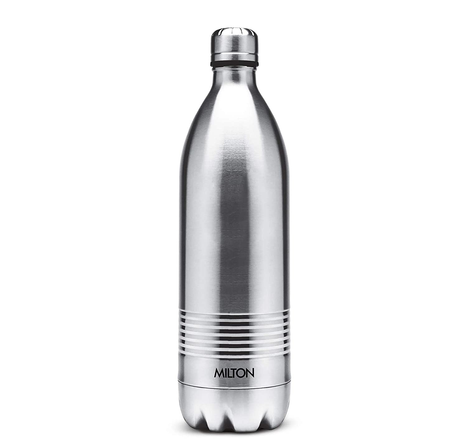 A silver insulated flask