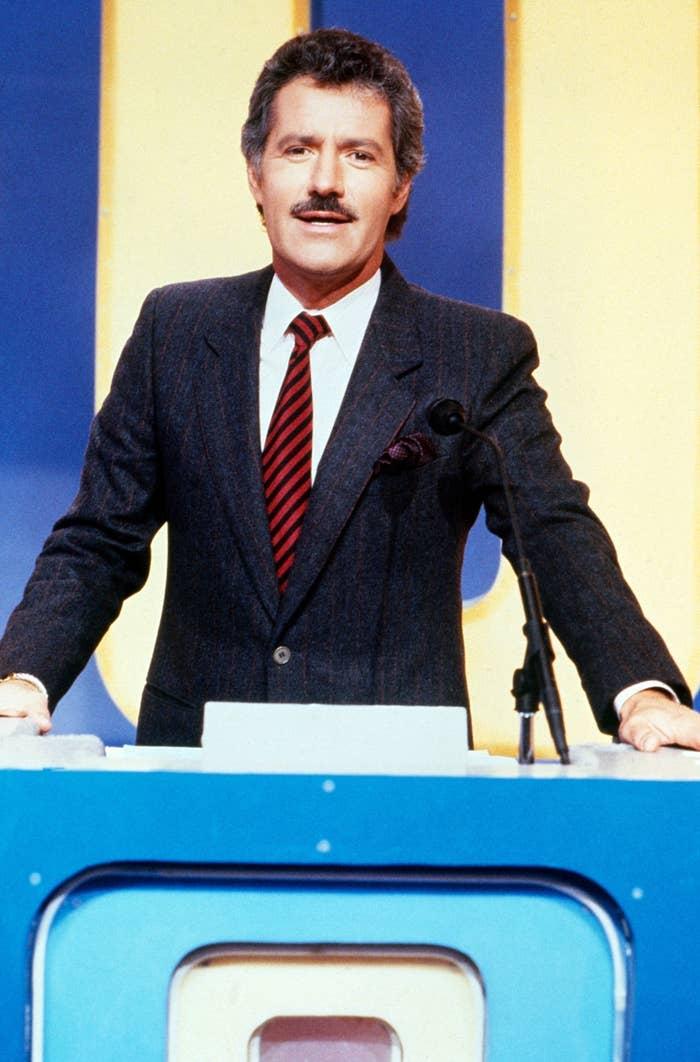 JEOPARDY!, host Alex Trebek (1990)