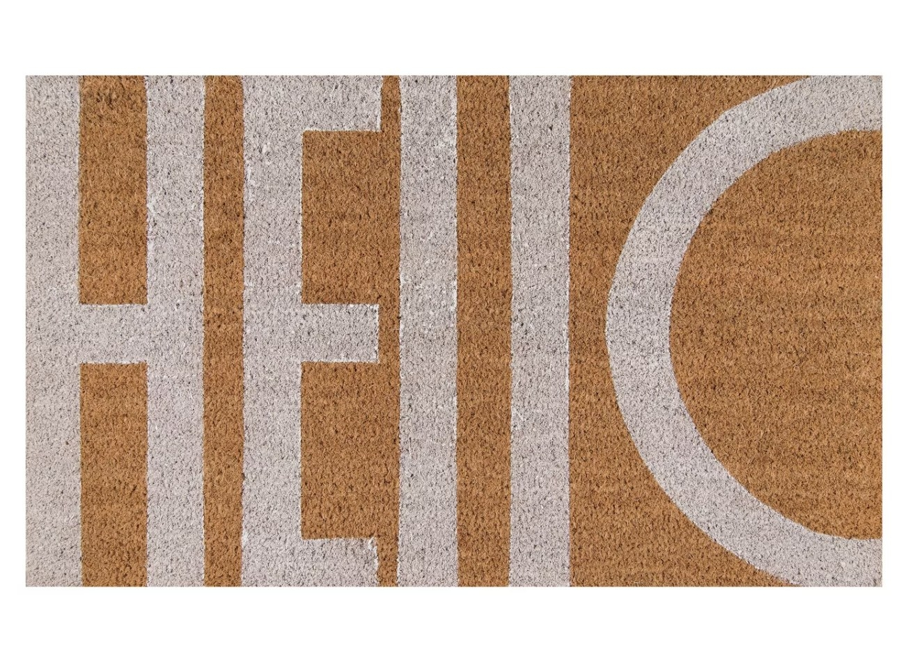 A mat that says Hello on it