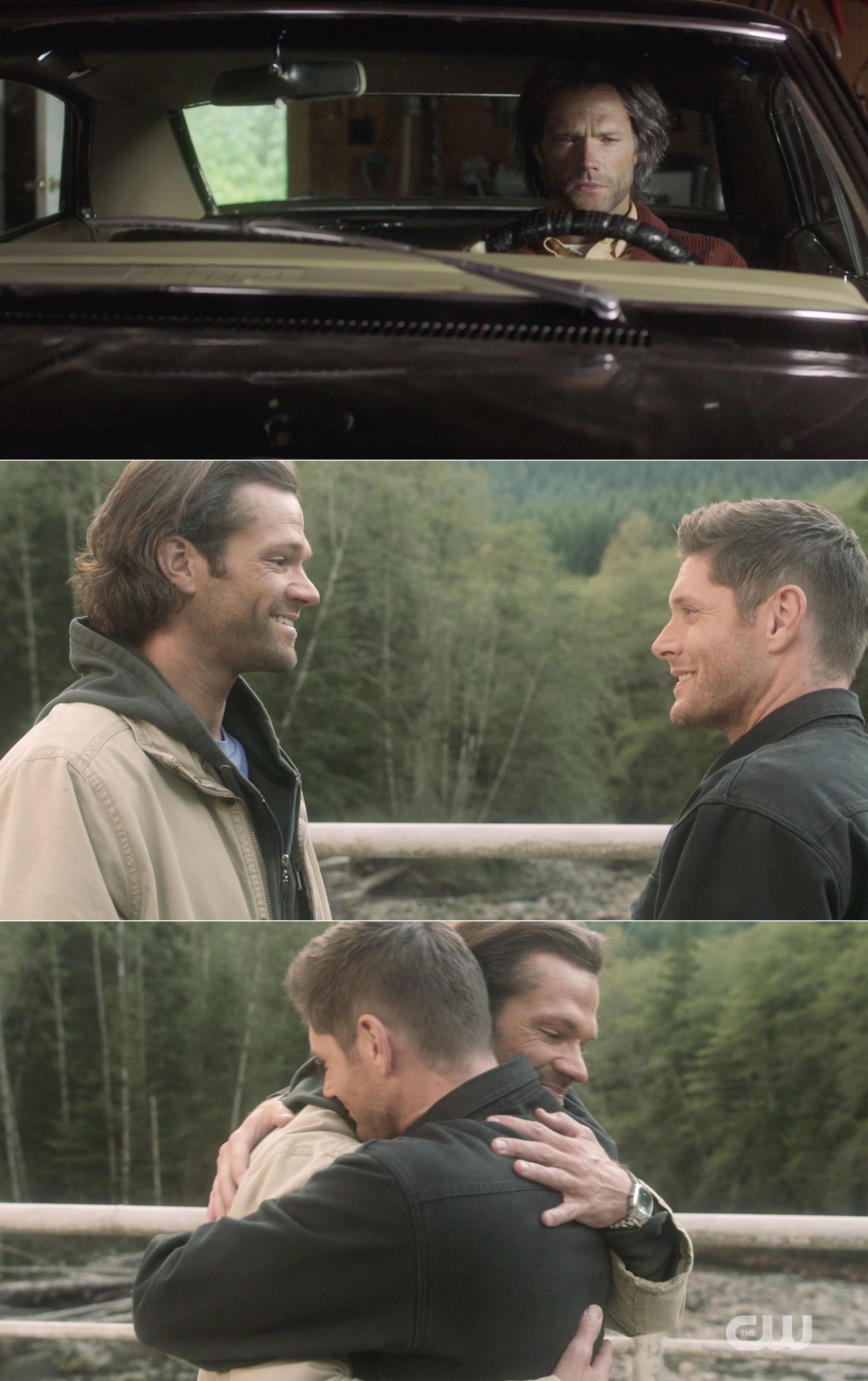 Sam and Dean hugging