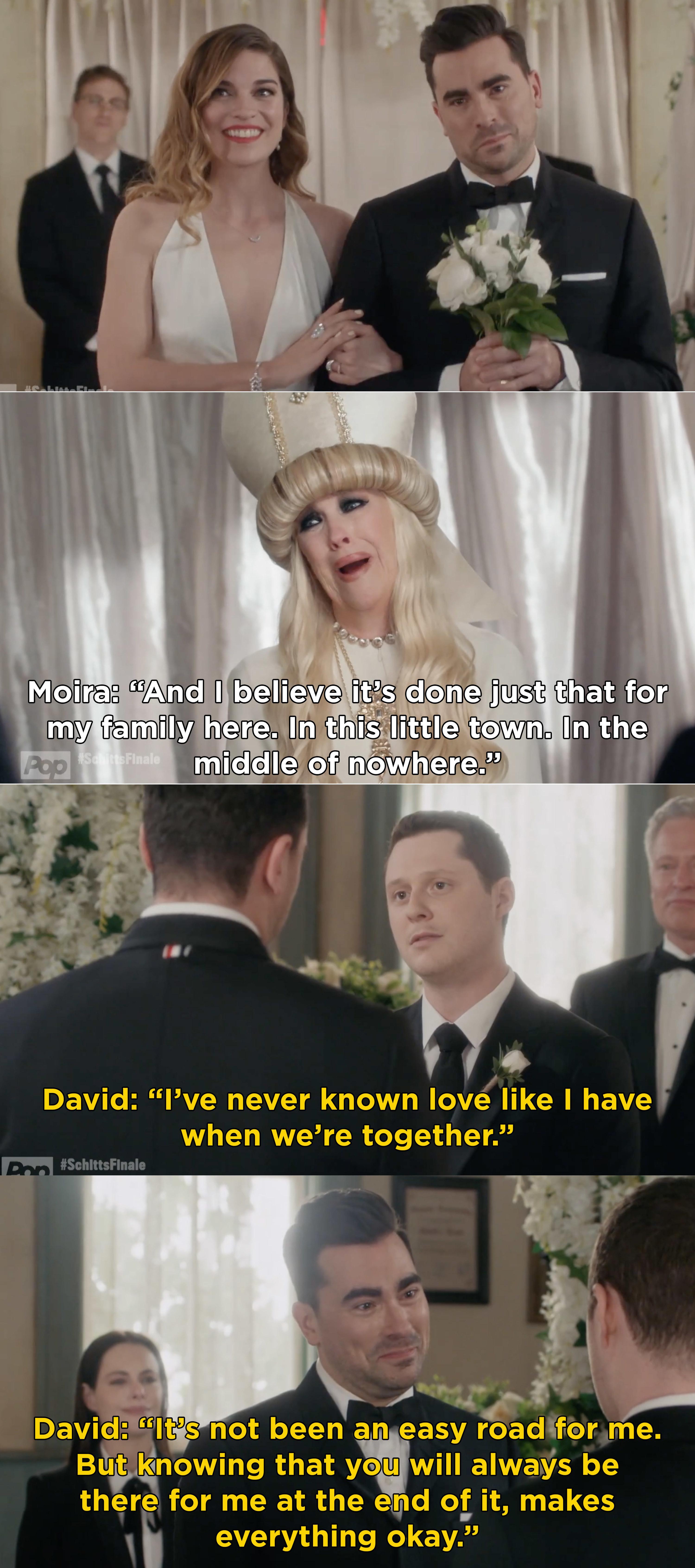 David saying his vows to Patrick