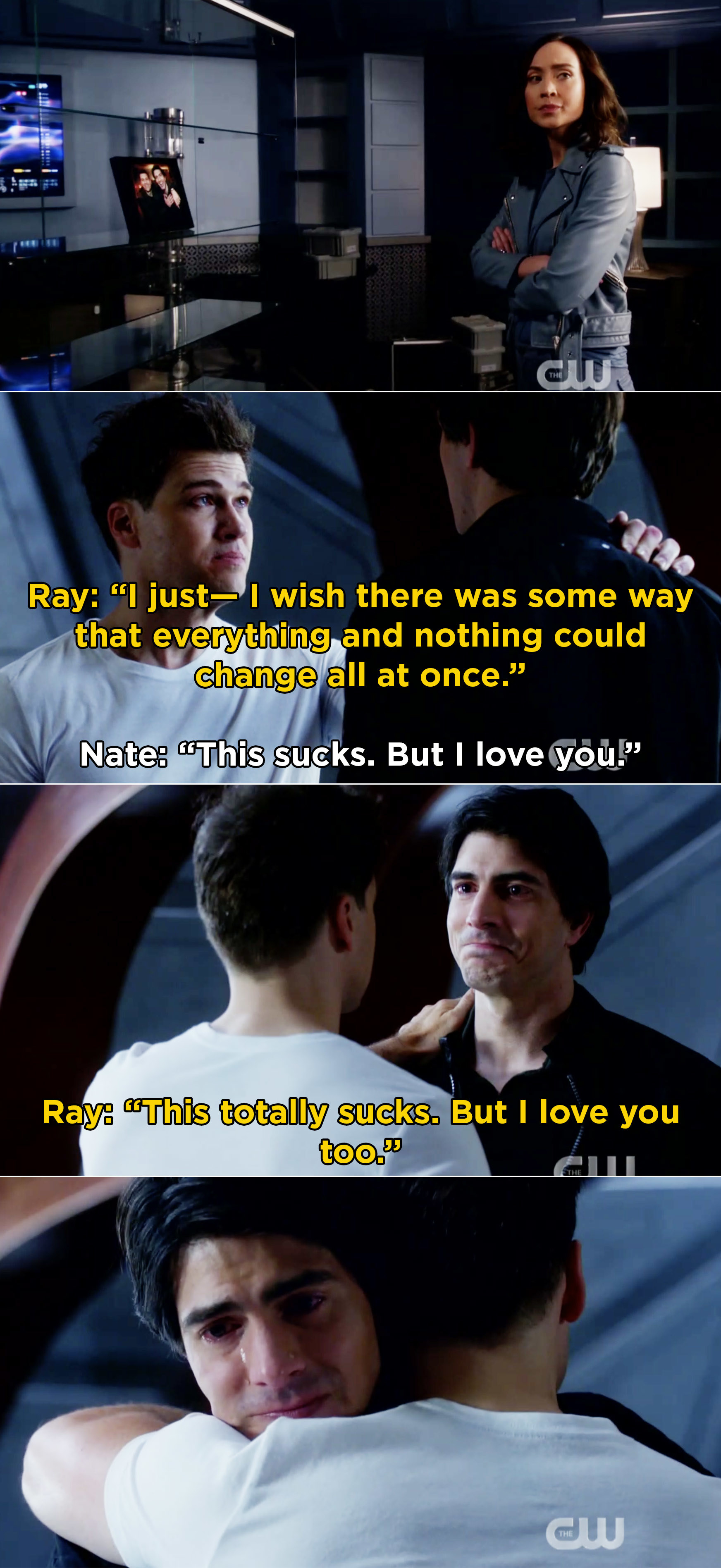 Ray and Nate saying that they love each other