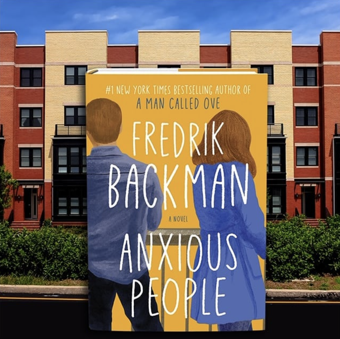 the cover of fredrik backman's book anxious people which shows the back of two people