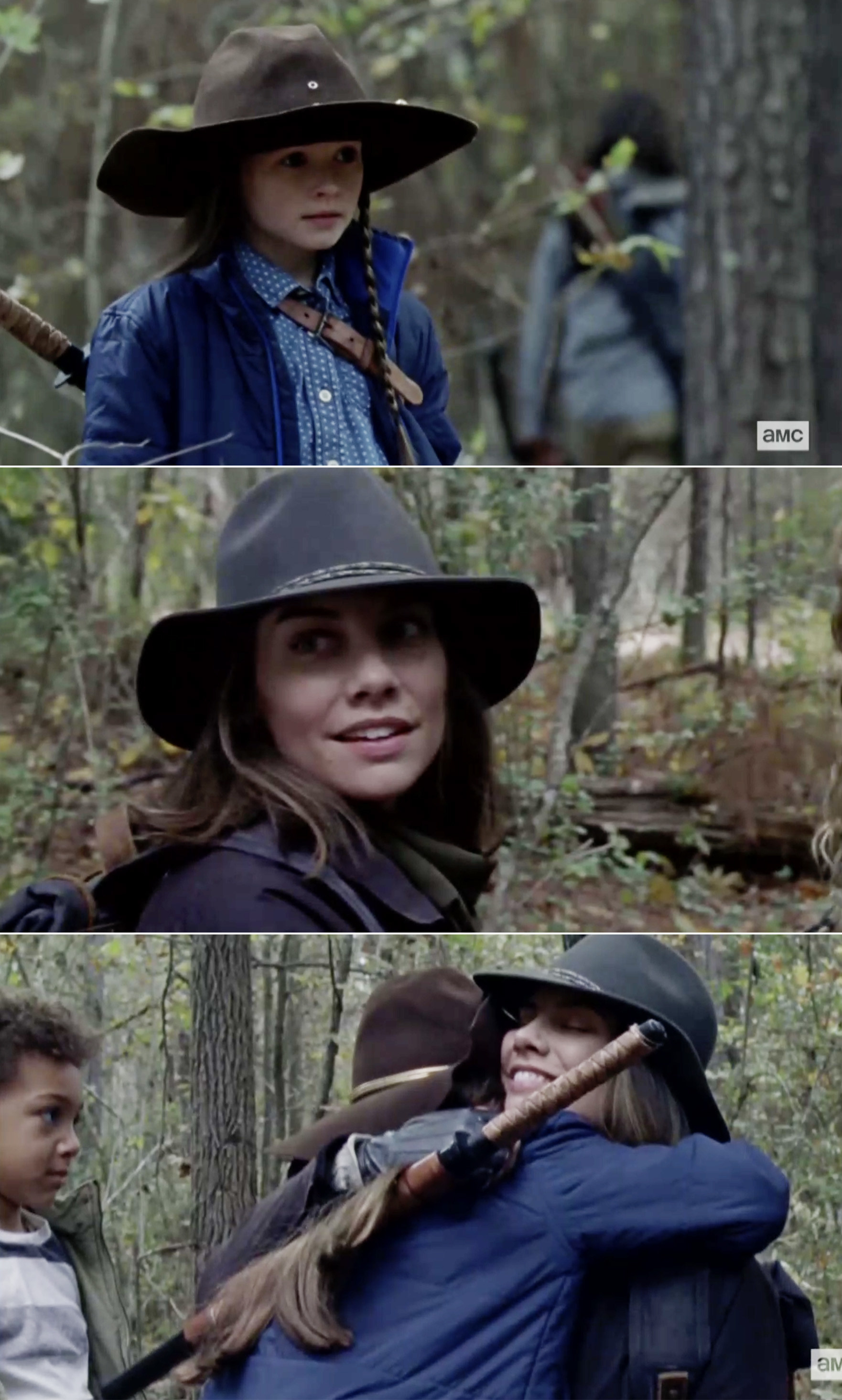 Maggie and Judith hugging