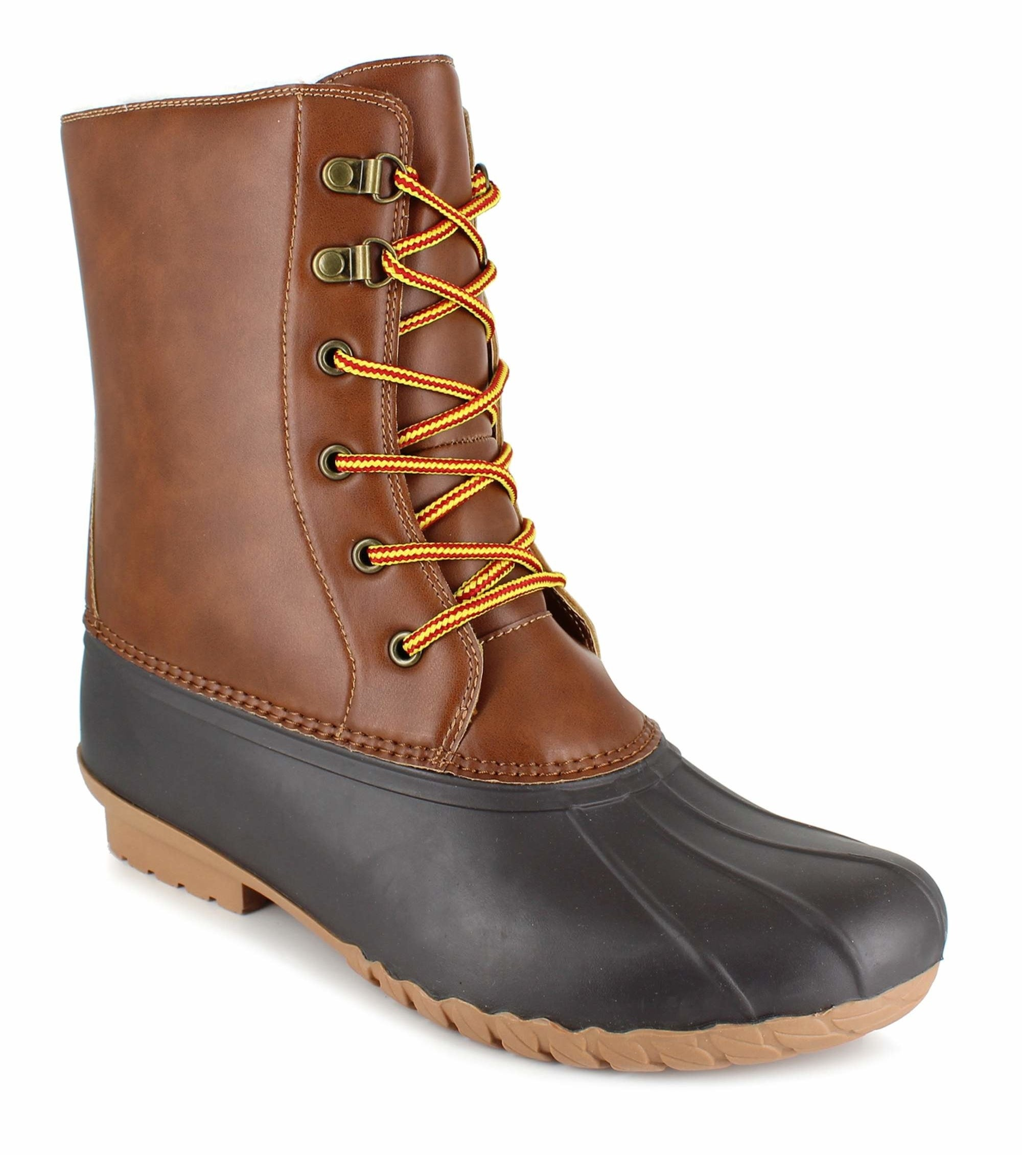 duck boot laced up