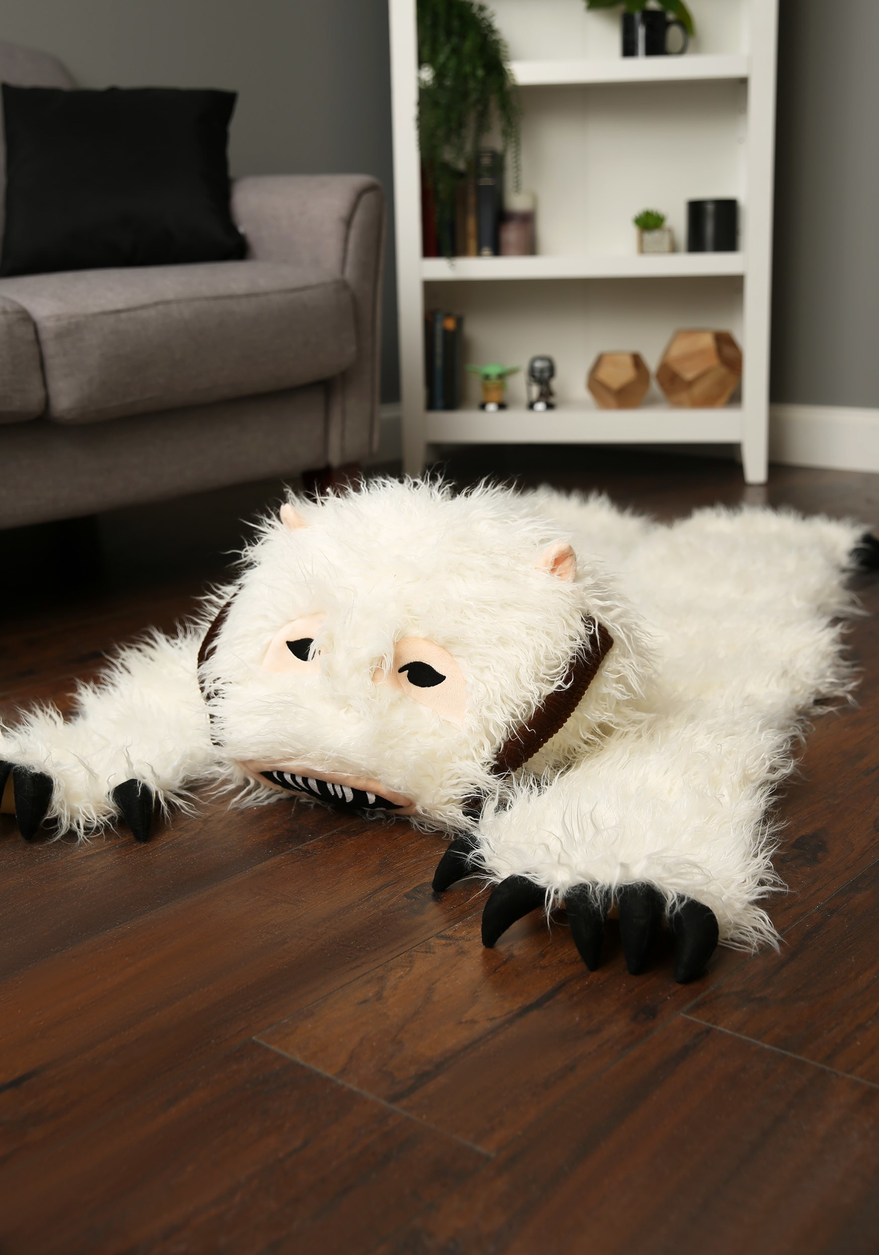 the white wampa rug
