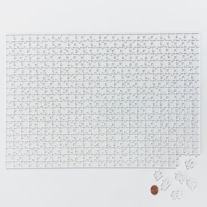 product photo showing the Impossible clear puzzle completely assembled