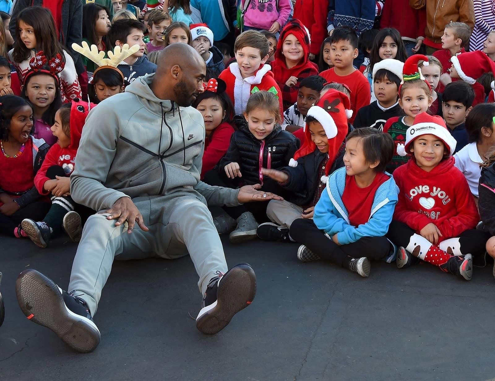 Kobe Bryant with children