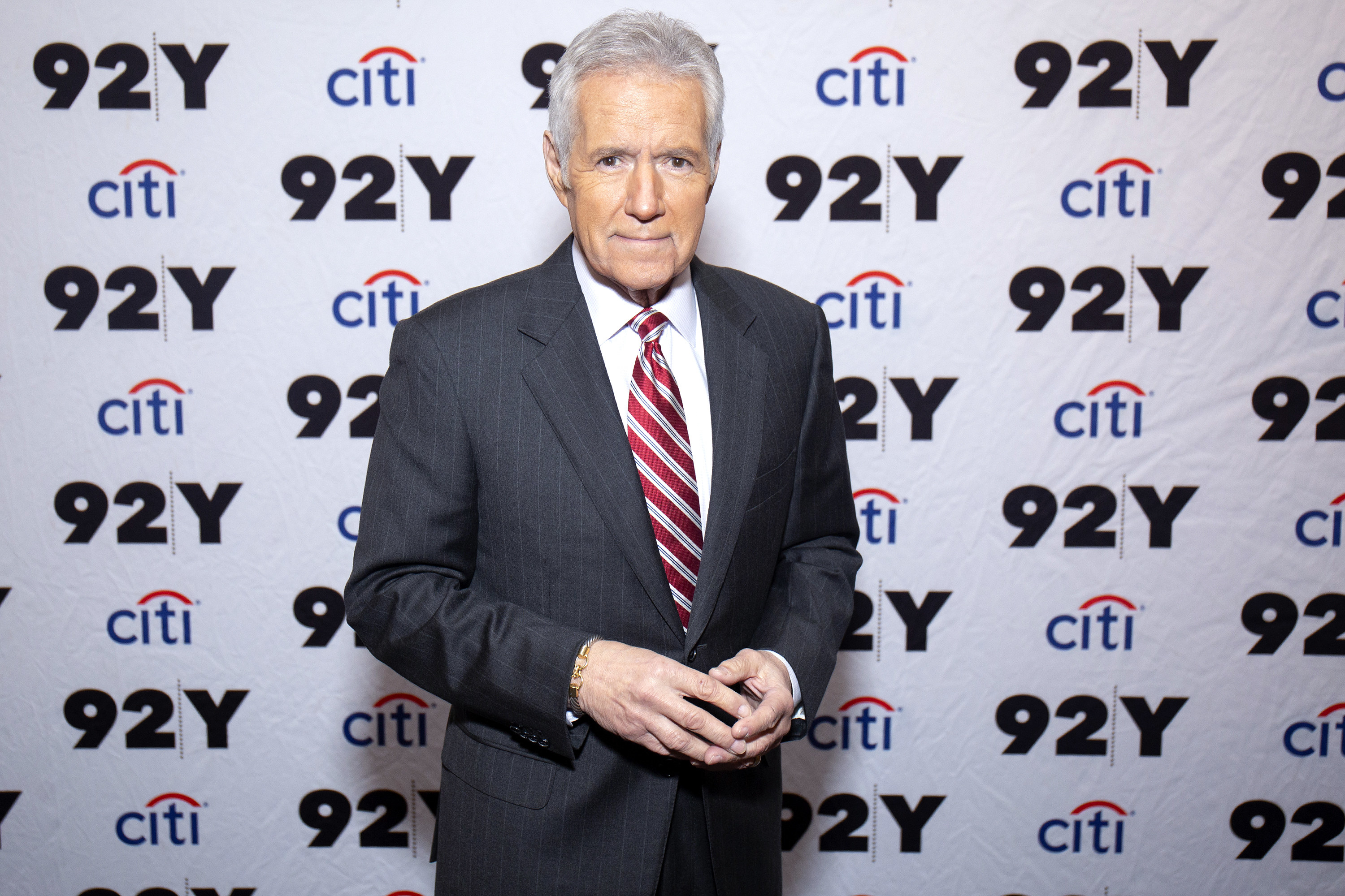 Alex Trebek attends 'Who is Alex Trebek? Celebrating 35 seasons of Jeopardy!' at 92nd Street Y on February 19, 2019 in New York City