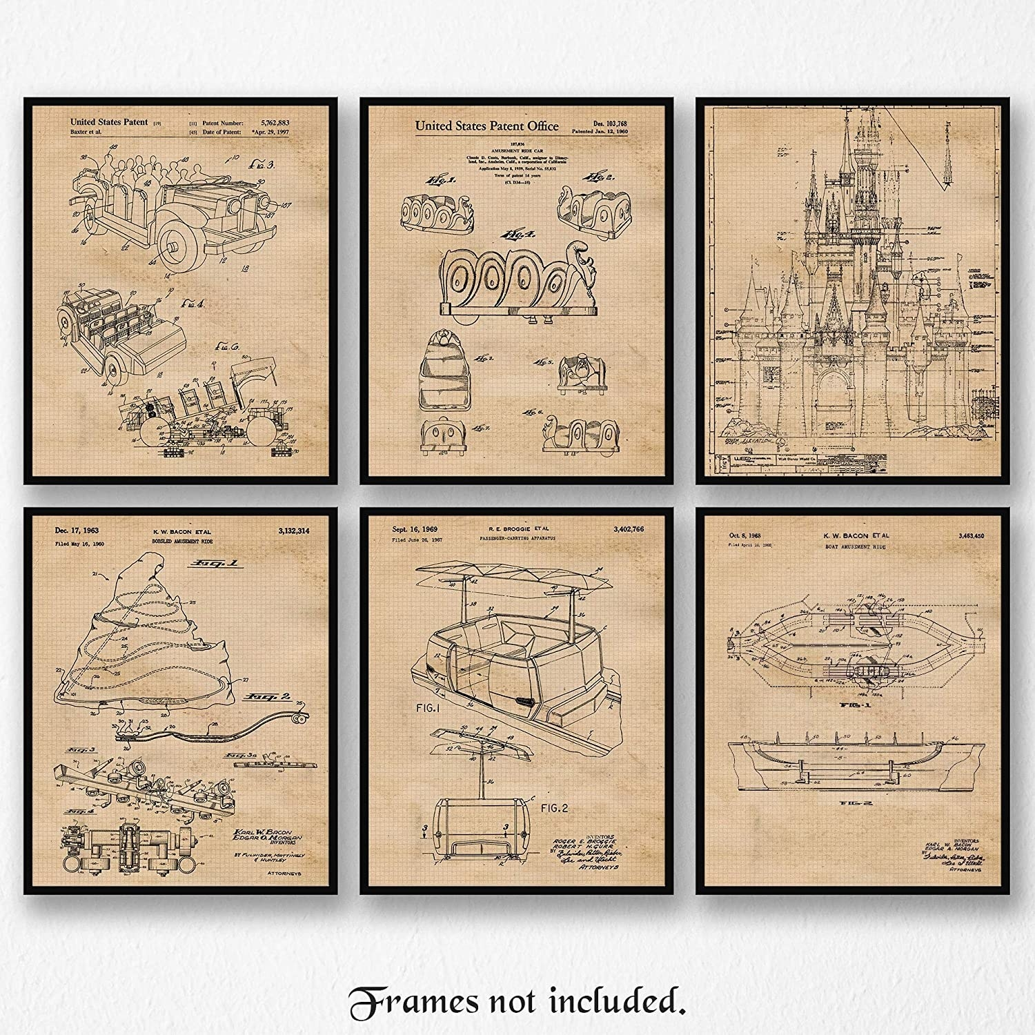 the six different patent posters