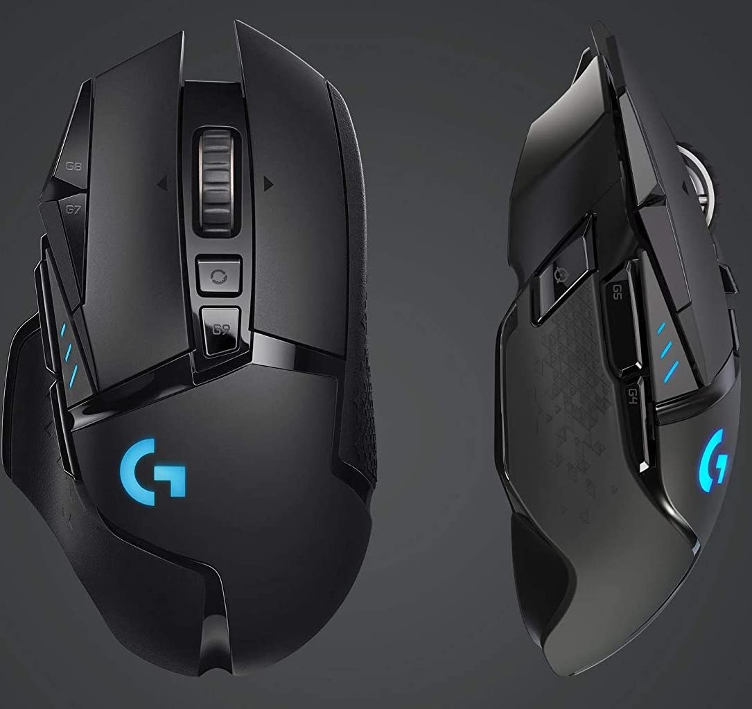 The top and side of the gaming mouse