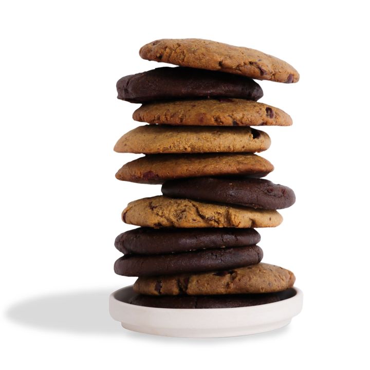 A stack of cookies from the variety pack