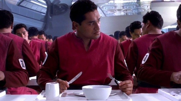 """A cafeteria of clones from """"Attack of the Clones."""""""