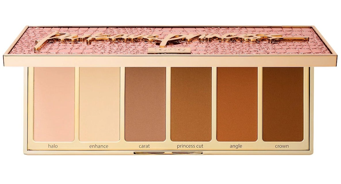 The bronzer palette with six matte bronzing and highlighting powders that get progressively darker