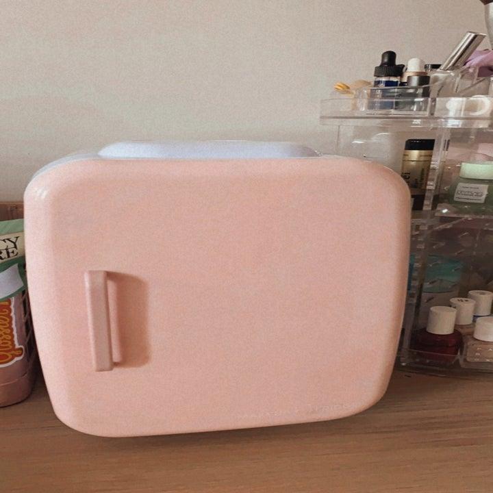 The pink fridge
