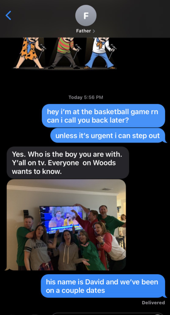 Parents sees their daughter on TV with a man