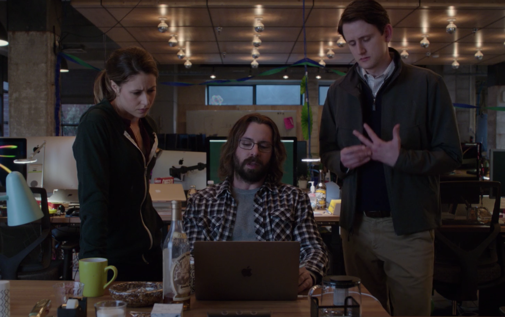 A still of Monica, Bertram, and Jared in Silicon Valley