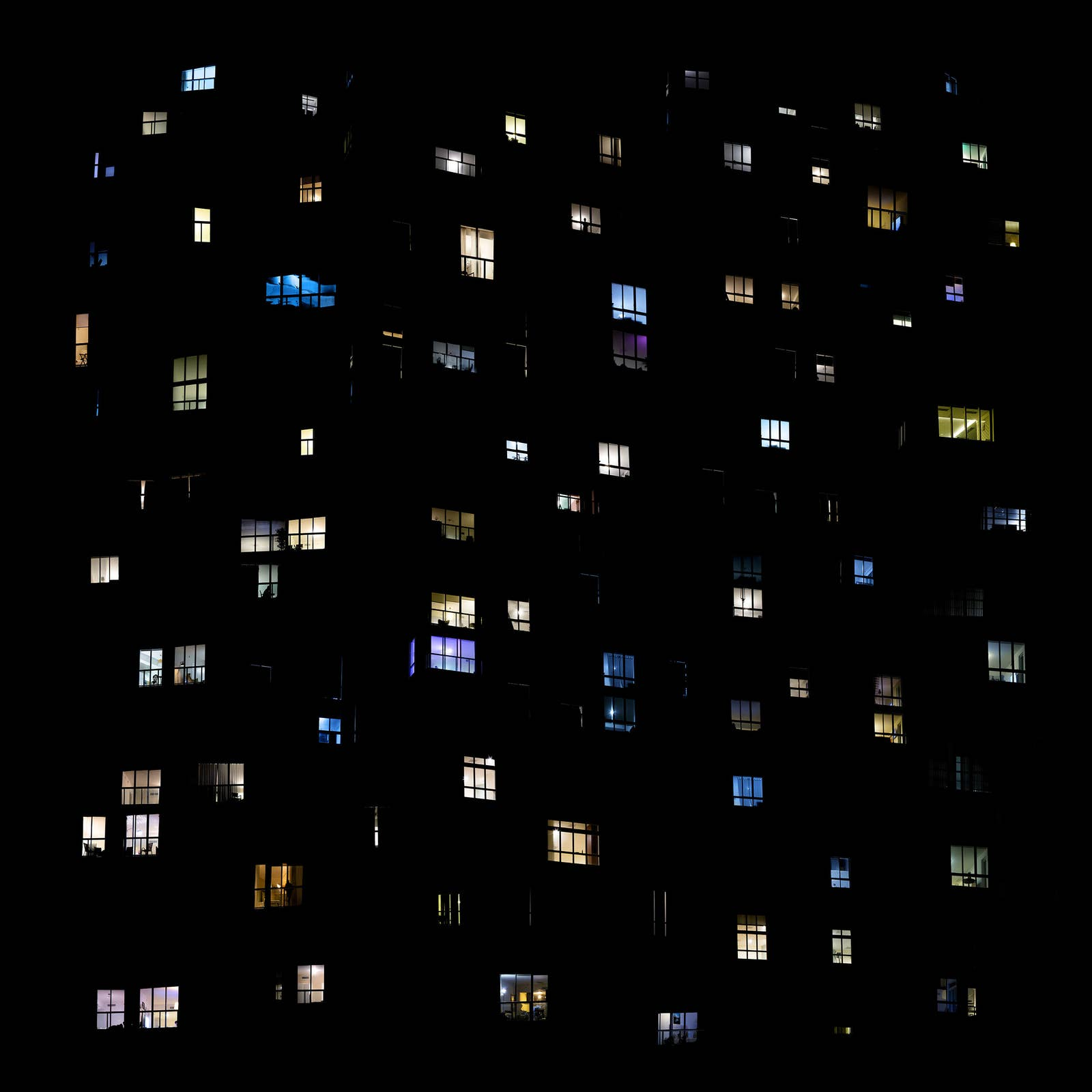 Windows from many apartment buildings