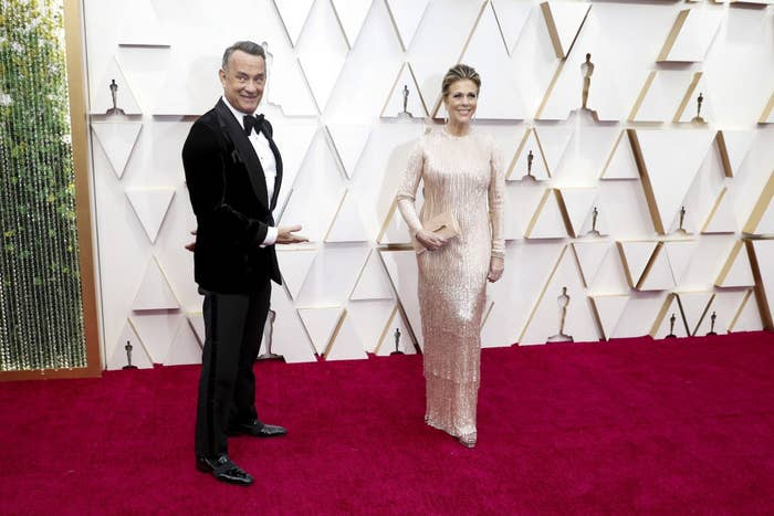 Tom Hanks and Rita Wilson arriving at the 92nd Academy Awards on Sunday, February 9, 2020 at the Dolby Theatre at Hollywood & Highland Center in Hollywood, CA