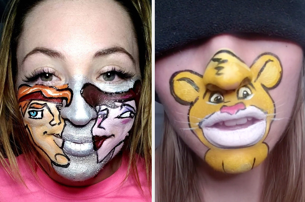 This Artist Face Paints Disney Characters In The Most Hilarious Way, And It's Going Viral On TikTok