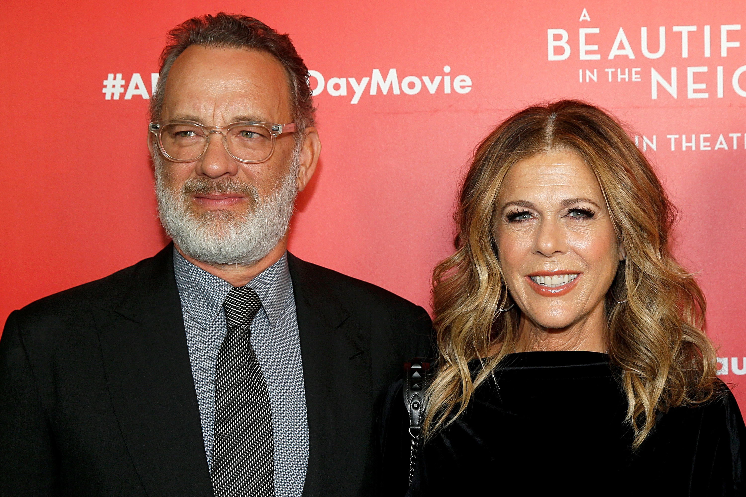 "Tom Hanks and Rita Wilson attend ""A Beautiful Day In The Neighborhood"" New York Screening at Henry R. Luce Auditorium at Brookfield Place on November 17, 2019 in New York City"