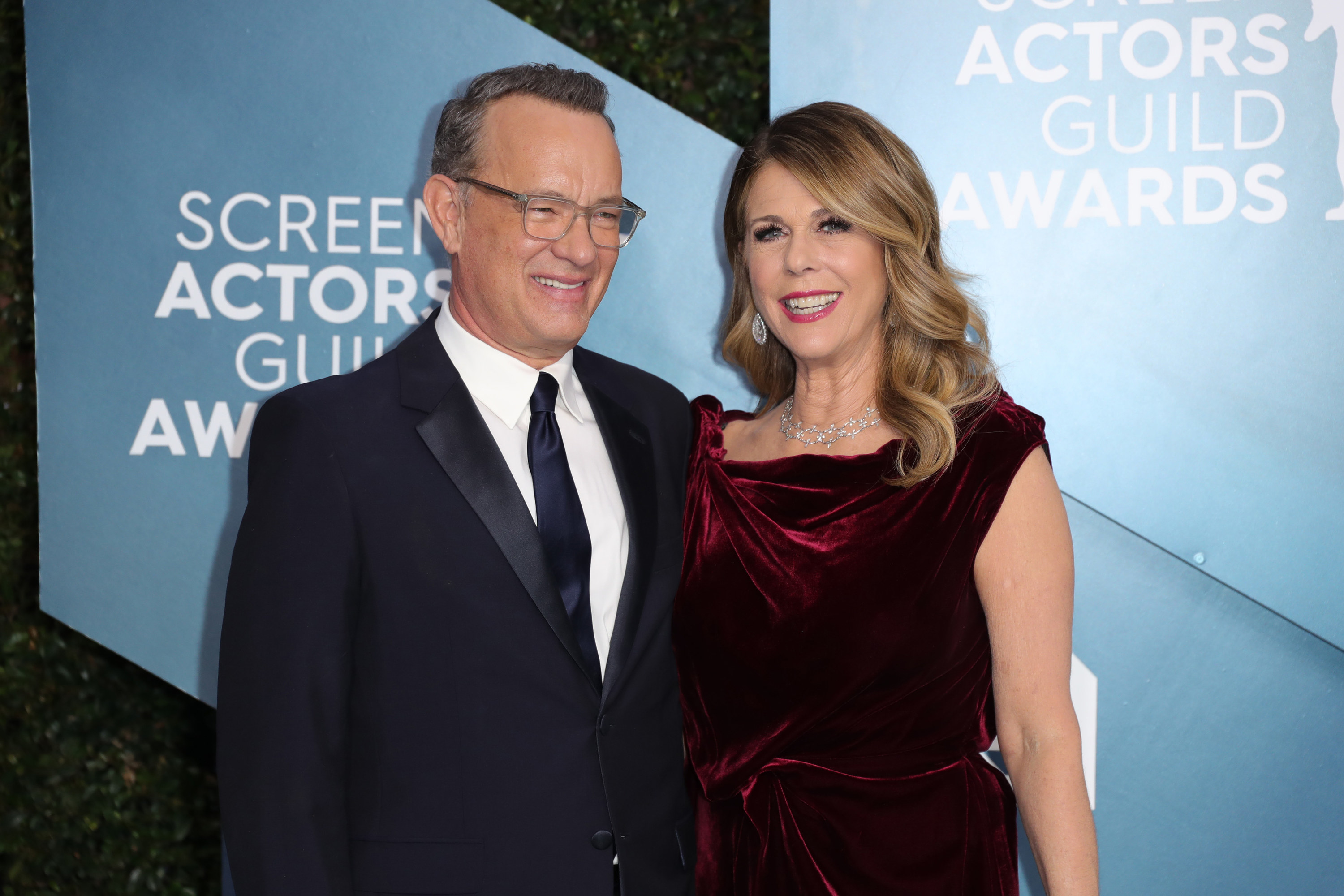 Tom Hanks and Rita Wilson attend 26th Annual Screen Actors Guild Awards at The Shrine Auditorium on January 19, 2020 in Los Angeles, California