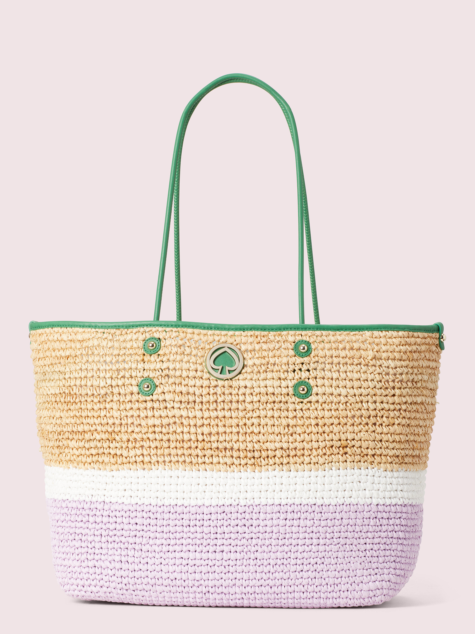 the bag in the color iris bloom