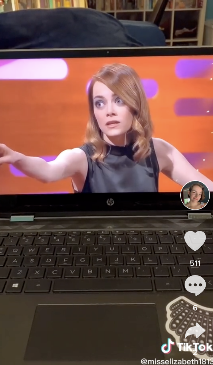 Screenshot of Emma Stone.