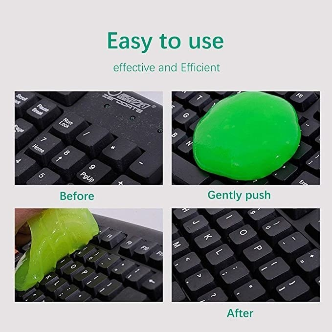 Green keyboard cleaning jelly.
