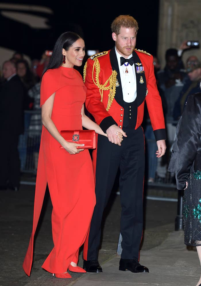 Prince Harry and Meghan attend the Mountbatten Festival of Music at Royal Albert Hall on March 07, 2020, in London