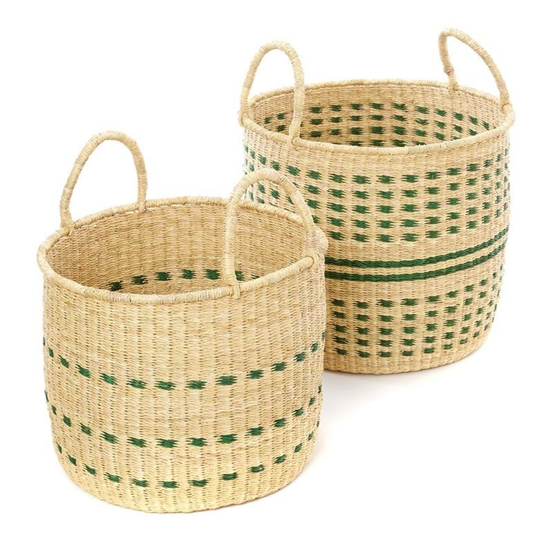 two handwoven baskets