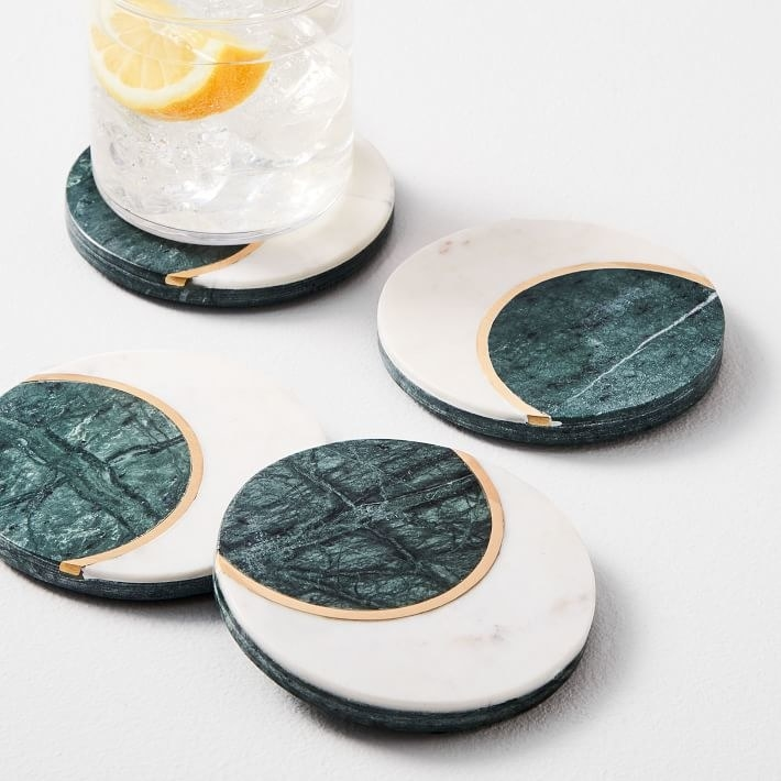 four marble moon coasters