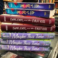 a stack of kasie west novels