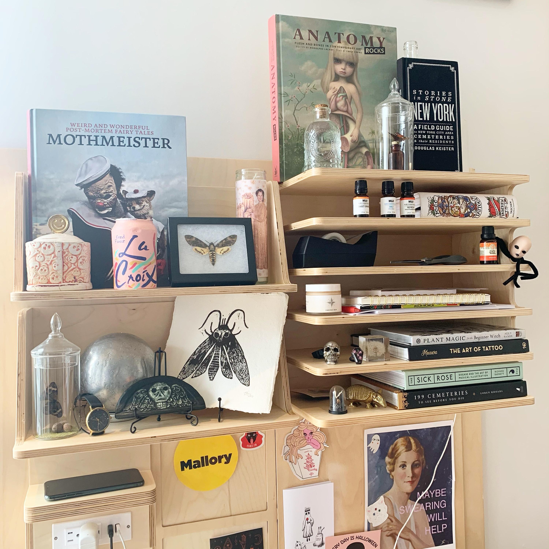 BuzzFeed Editor Mal Mower's desk