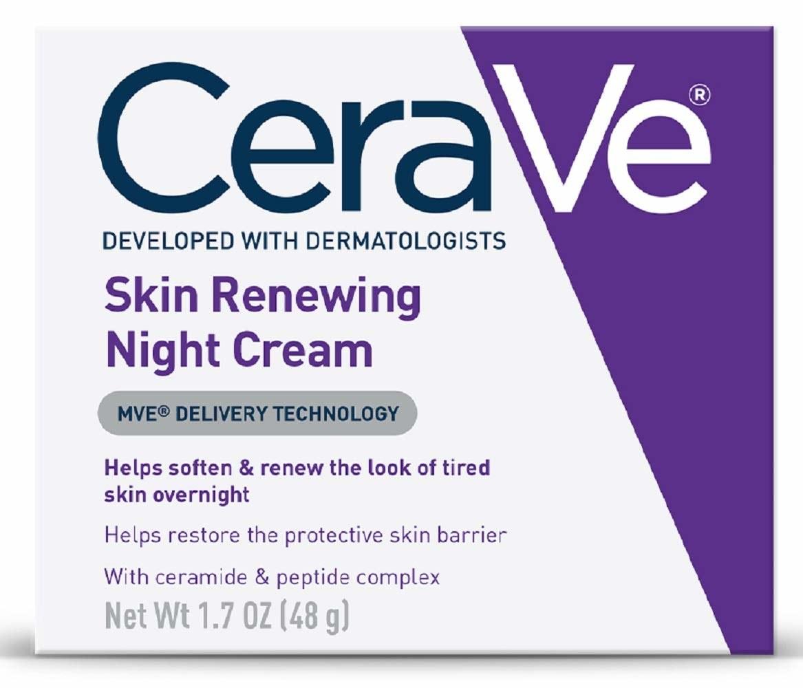 box of CeraVe skin renewing night cream