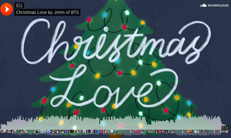"""The soundcloud cover of """"Christmas Love"""" by Jimin"""