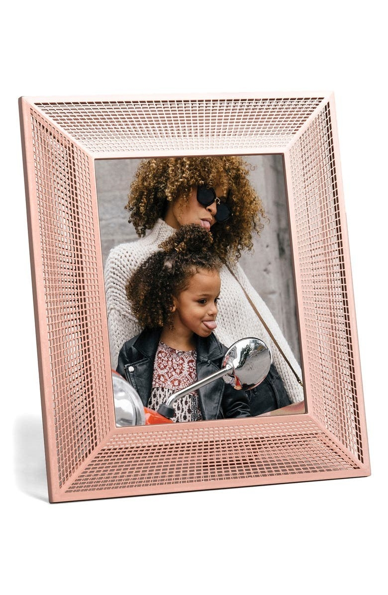 The pink wire frame