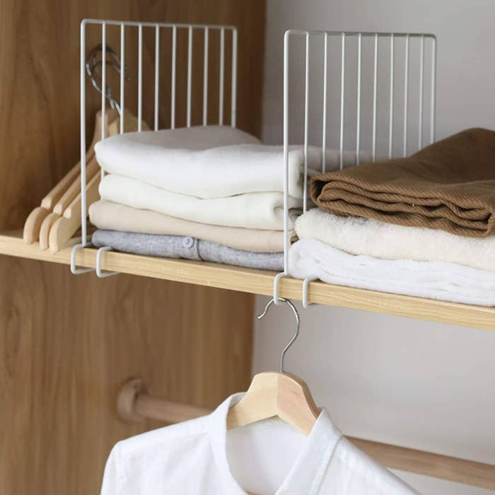 White shelf dividers